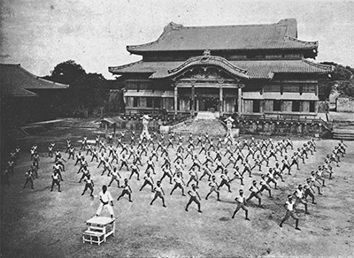 Training at Shuri Castle - 1938